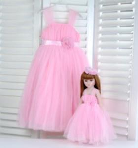 """Кукла серии """"Город Игр"""" 45 см с платьем, розовый S"""
