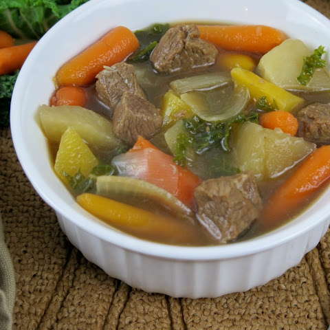Turnip Rutabaga and Root Veggie Beef Stew #SundaySupper