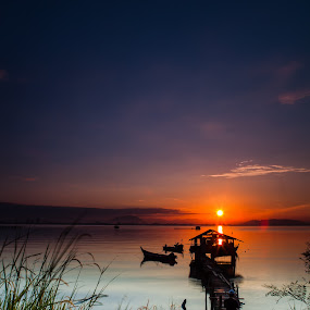sunrise @ dove jetty by P Hin Cheah - Landscapes Sunsets & Sunrises ( jelutong, penang, dove jetty, sunrise, dove )