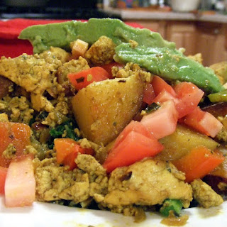 Southwestern Tofu Scramble with Greens