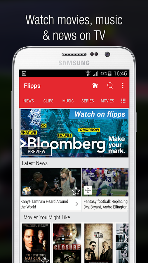Flipps – Movies, Music & News Screenshot 0