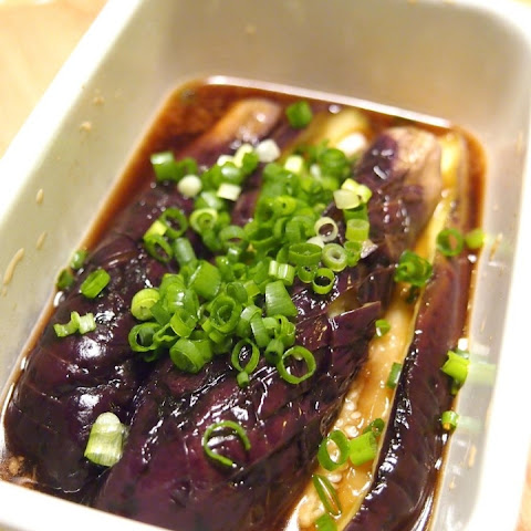Yaki-Nasu(Grilled Eggplant) cooked using microwave