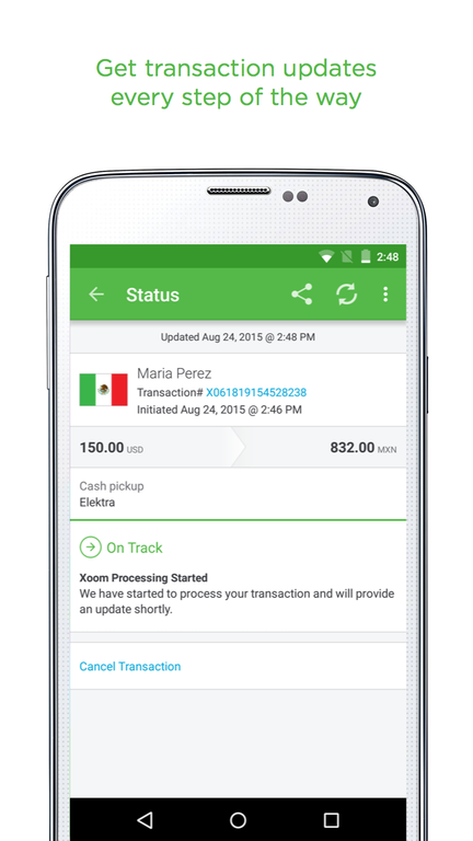 Xoom Money Transfer Screenshot 3