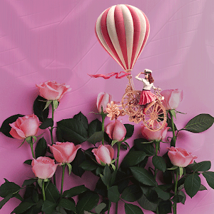 Pink Rose Dream Balloon