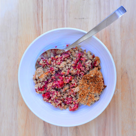 Raspberry Crumble {Gluten and Dairy Free}
