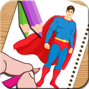 Super Hero Coloring Book Pages 2017 Its Free APK Icon