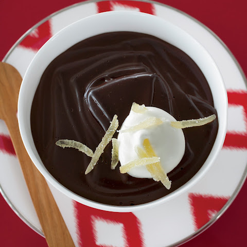 Dark-Chocolate Pudding with Candied Ginger