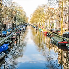 Amsterdam by Andrew Moore - City,  Street & Park  Vistas ( water, amsterdam,  )