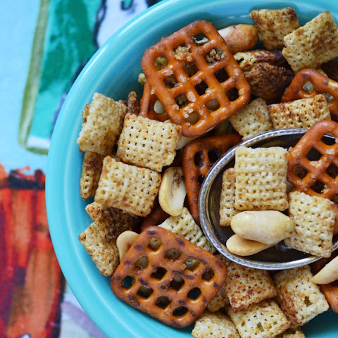 Crockpot Rice Chex Mix
