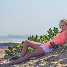Relaxing in the sun by Phillip Prinsloo - People Family ( natural light, sand, model, sea, beach, landscape, portrait )