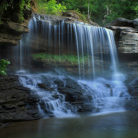 GEM OF THE OZARKS by Dana Johnson - Landscapes Waterscapes ( waterfalls, waterscape, cascade, creek, falls, ozarks, landscape )