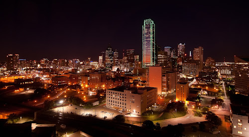 Dallas Texas by Bob Stafford - City,  Street & Park  Skylines ( vistas, dallas, texas, night, streets, tripod, city, nightlife )