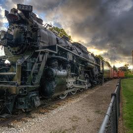 Pere Marquette HDR by Calvin Morgan - Transportation Trains ( nikon d700, grand haven mi, hdr, train, pere marquette )