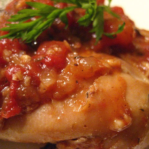 Chichen with Lemon, Herbs and Tomatoes