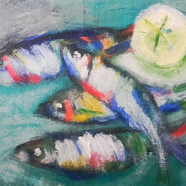 Fishes by Vanja Škrobica - Painting All Painting