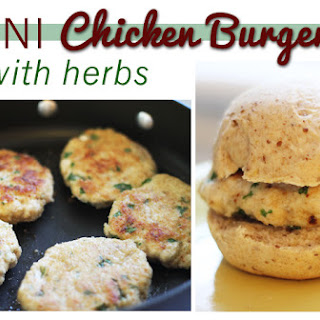 Mini Chicken Burgers with Herbs