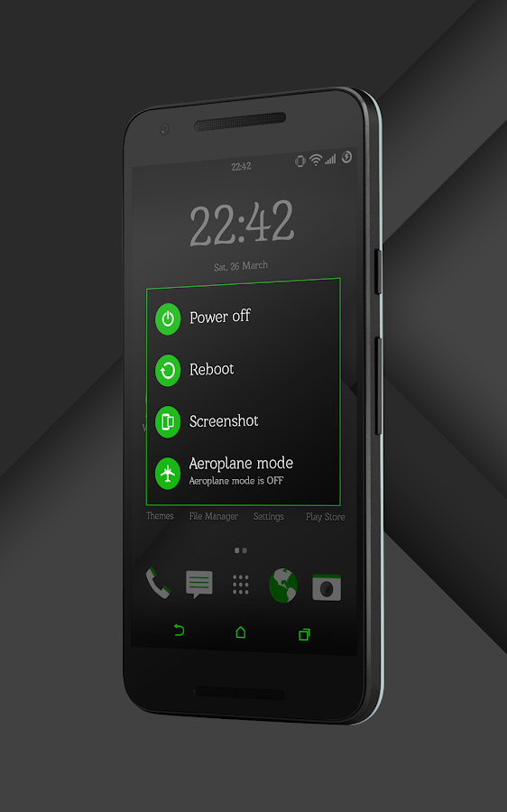 Sense Black/Green cm13 theme Screenshot 11