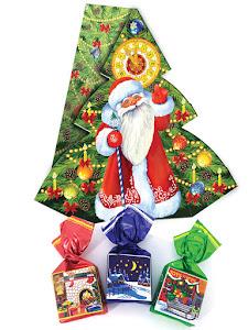 """Конфеты шоколадные """"Ассорти"""", новогодний набор, елка, 130г"""