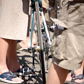 Getting the Bike Ready by Barry Lehman - Transportation Bicycles ( duathlon, bike, biking, bicycle )
