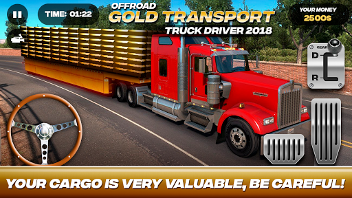 Offroad Gold Transport Truck Driver For PC
