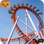 VR 360 Roller Coaster Game Icon