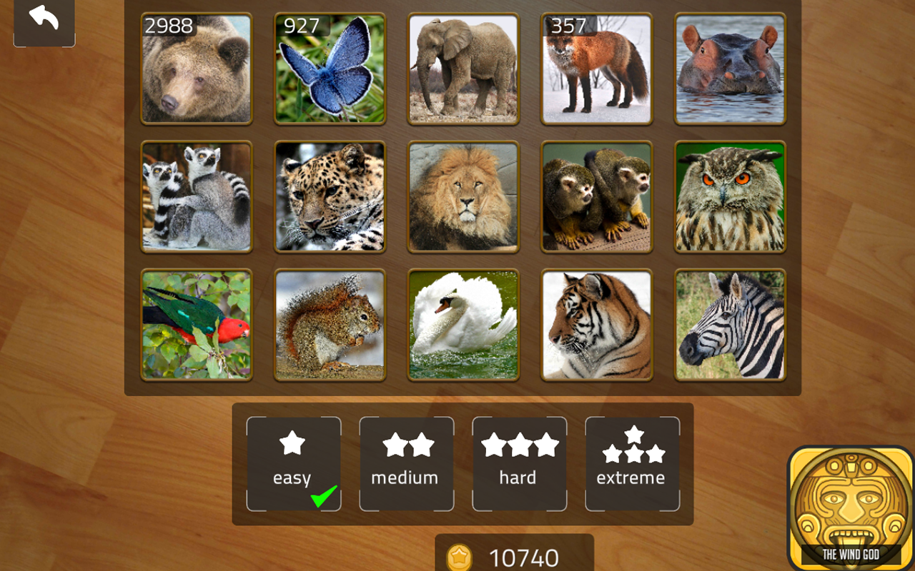 Sliding Blocks Wild Animals Screenshot 2