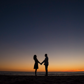 Sweet Sunset by Yansen Setiawan - Wedding Other ( silhouette, sunset, weddings, wedding, engagements, engaged, engagement )