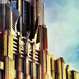Power 01 by Kevin Lucas - Buildings & Architecture Architectural Detail ( streamlined, sculpture, urban, surealism, architecture, art deco )