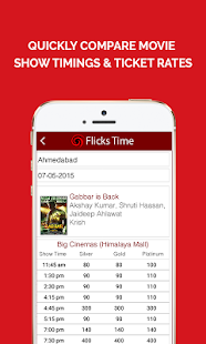 Flickstime: Movie Show Timings Screenshot