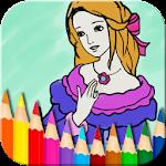 Princess Coloring Book Icon