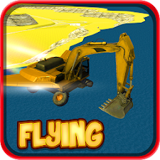 Flying Excavator Simulator 3D