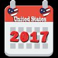 US Calendar with holidays 2017