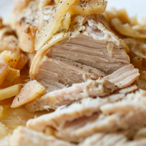 Crockpot Pork Loin with Apples