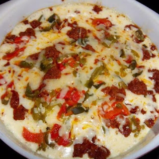 Queso Fundido With Peppers and Chorizo