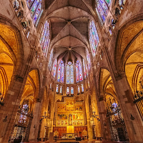 altar catedral de León by Roberto Gonzalo Romero - Buildings & Architecture Places of Worship ( león, catedral )