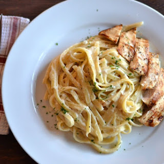 Fettuccine Alfredo with Grilled Chicken