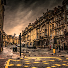 Grey Street by Adam Lang - City,  Street & Park  Historic Districts ( grainger town, newcastle, architecture, grey street, city )