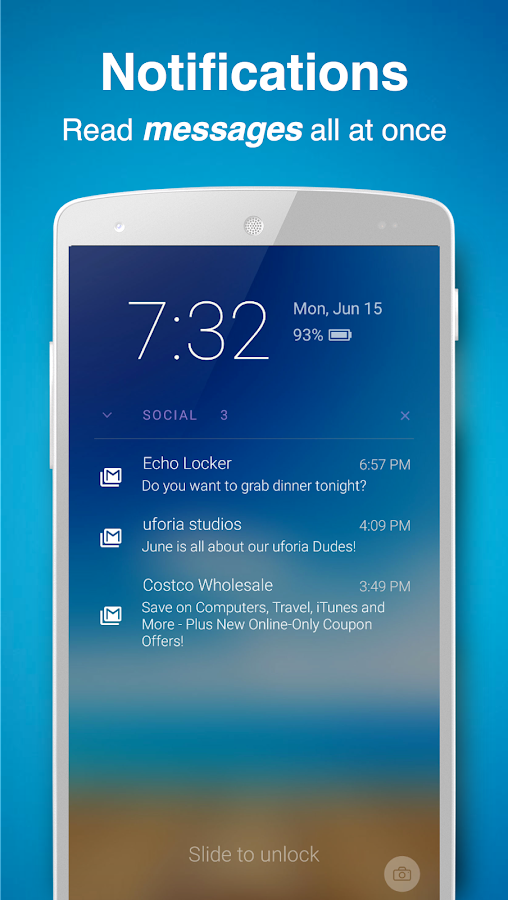 Echo Notification Lockscreen Screenshot 2