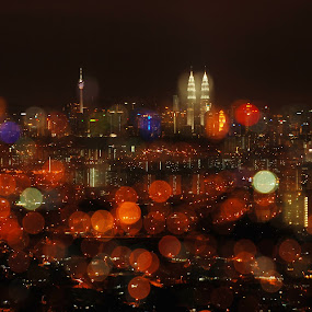 KL night view by Woo Yuen Foo - Landscapes Travel