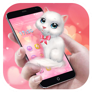 Cartoon Theme - Pink Kitty For PC / Windows 7/8/10 / Mac – Free Download