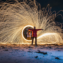 Fun with fire by Fred Øie - Abstract Fire & Fireworks ( abstract )