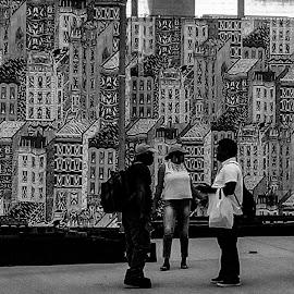 Graffiti wall by Rebecca Pollard - Black & White Street & Candid