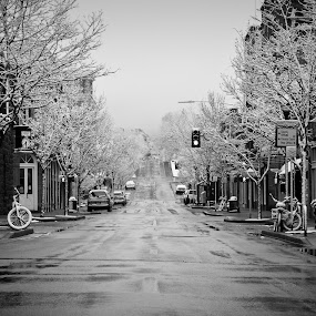 Flagstaff Arizona - Snowfall by Joe Boyle - City,  Street & Park  Historic Districts ( old, winter, flagstaff, snow, arizona, neighborhood, pwcbwlandscapes, historic )