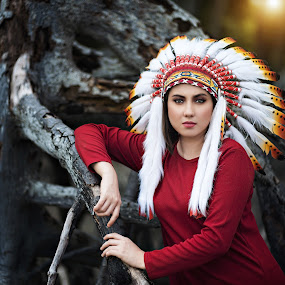 Red Indian Fashion by Mdnoh Mnj - People Fashion
