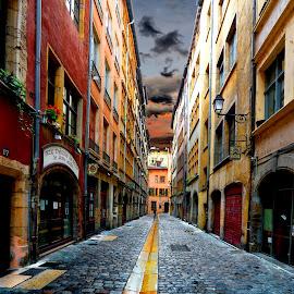 by Alain Labbe Alain - City,  Street & Park  Street Scenes