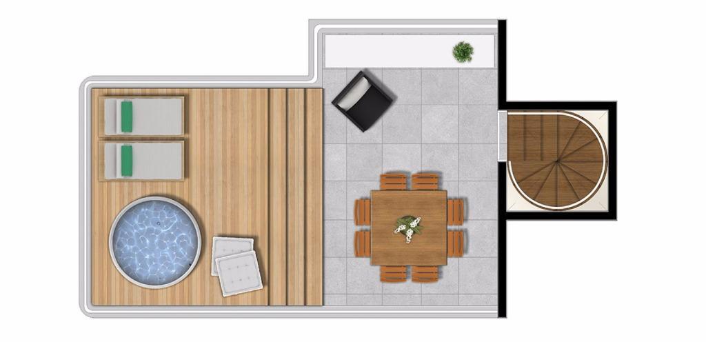 Planta Duplex Superior 81 m²