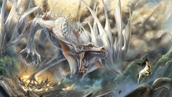 White Dragon Live Wallpaper - screenshot