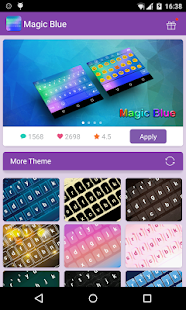 Emoji Keyboard-Magic Blue - screenshot