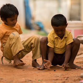 by Saran Sabapathy - City,  Street & Park  Street Scenes ( #childrenplaying, #games, #street, #children )