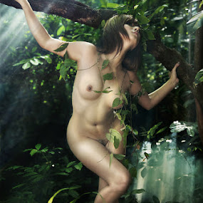 Beauty in Tropical forest by Mpe'- Indra Prameswara - Nudes & Boudoir Artistic Nude
